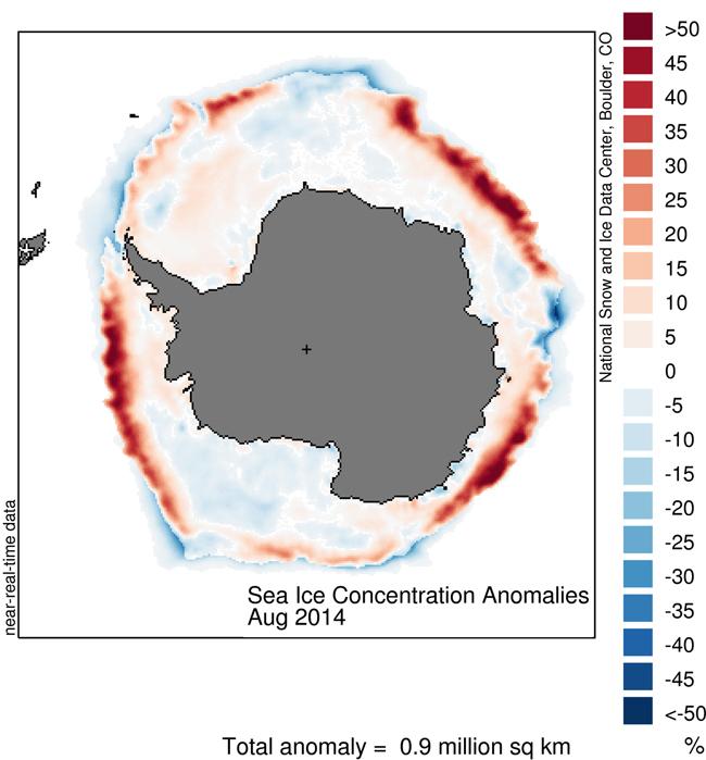 El agua del mar en la Antártida sube a un ritmo mayor que en el resto del Planeta