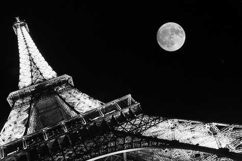 Tour Eiffel, con luna