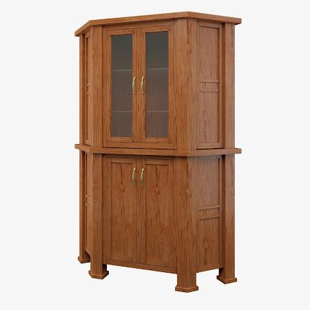 Hagen Corner Cabinet in Stickley Hickory