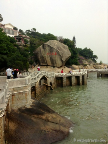 big rock gulangyu island xiamen china