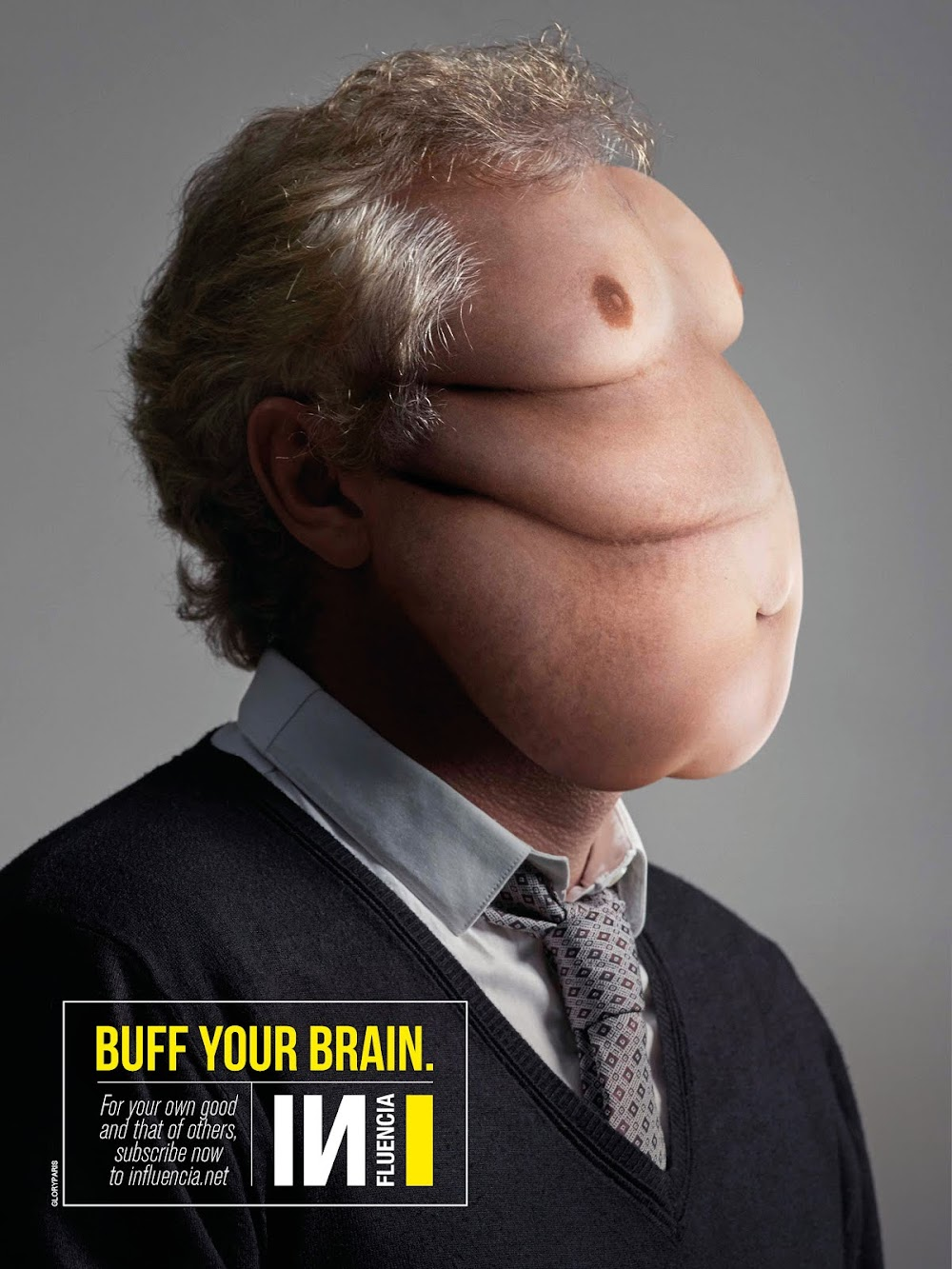 "Trends and Creativity Magazine INfluencia & GloryParis Launch ""Buff Your Brain"" Digital Print Campaign"