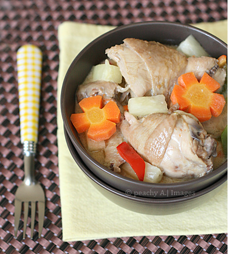 Pininyahang Manok {Coconut Chicken with Pineapple}