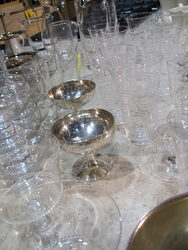 Beautiful glass and drinkware ready for display.