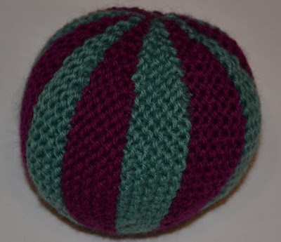 Knit Balls Dark Purple and Green