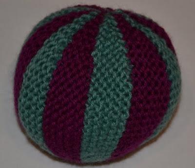 Knit Balls Dark Purple and Green