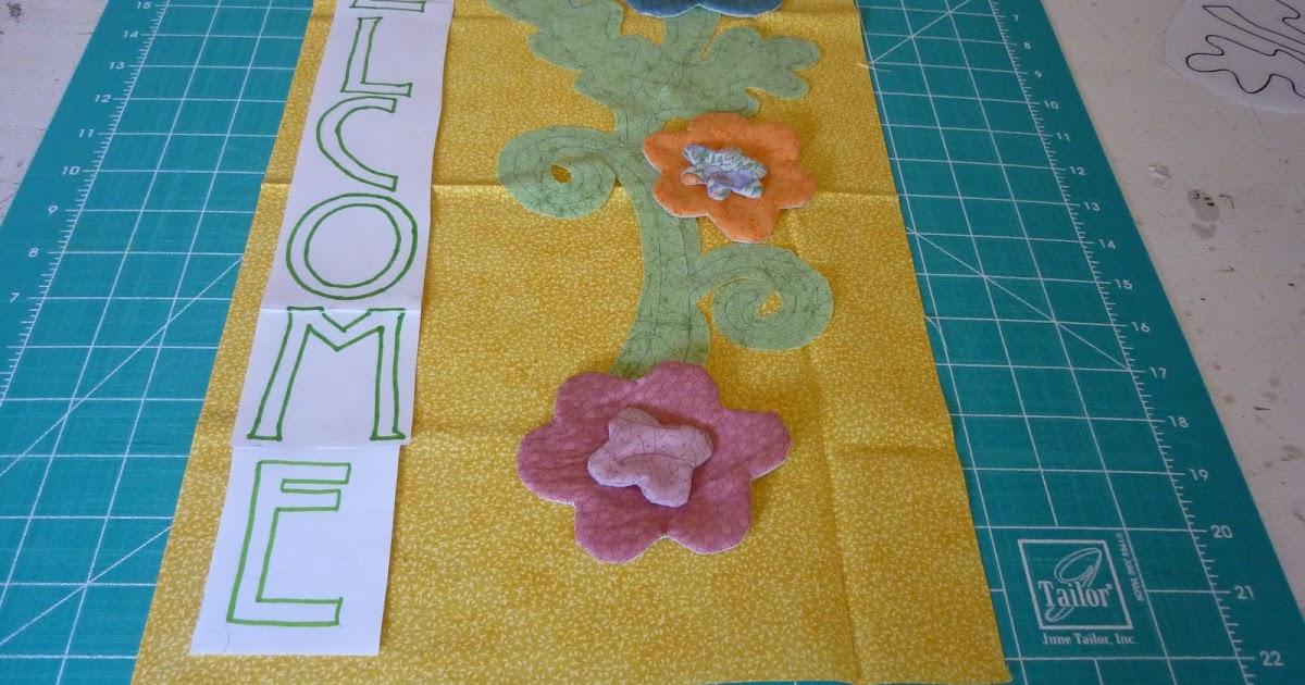 Casita del patchwork estandarte de primavera - La casita del patchwork ...