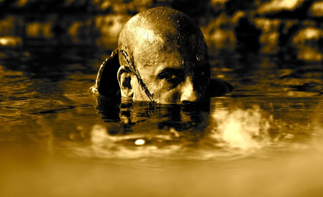 Riddick in deep water