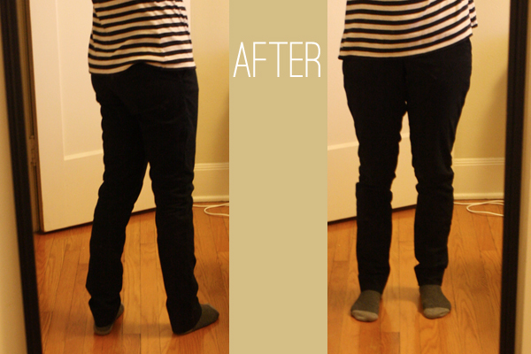 skinny pants diy after