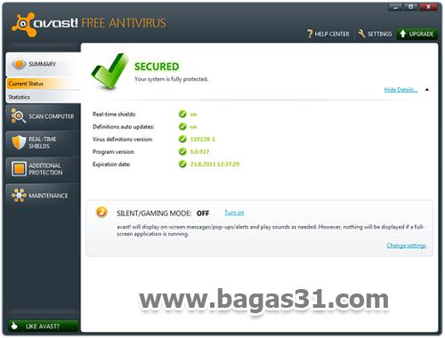 Avast Antivirus 6 Free Edition + Serial 2