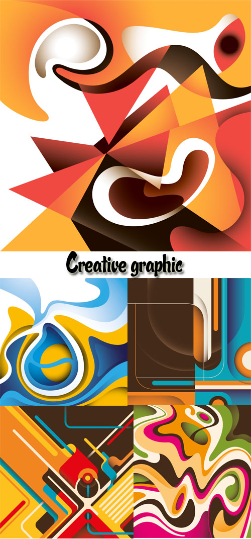 Stock: Creative graphic. Abstraction and Picasso's style