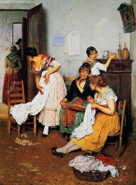 Eugene de Blaas - The New Suitor