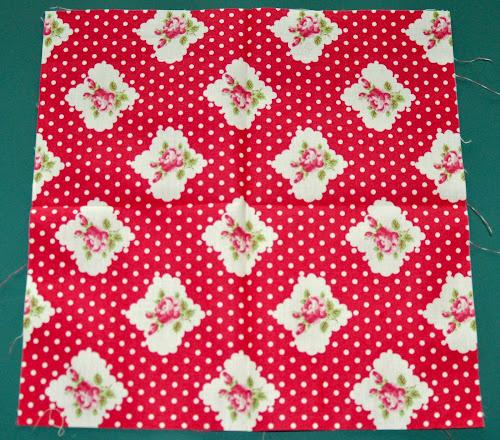 Block 20 Origami Flower Textured Quilt Sampler Sewn Up