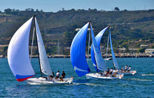 J/70 one-design sailboats- sailing San Diego