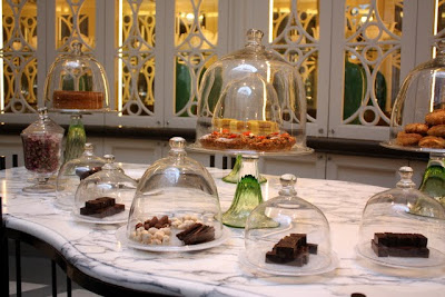 Tea cakes at the Corinthia Hotel in London