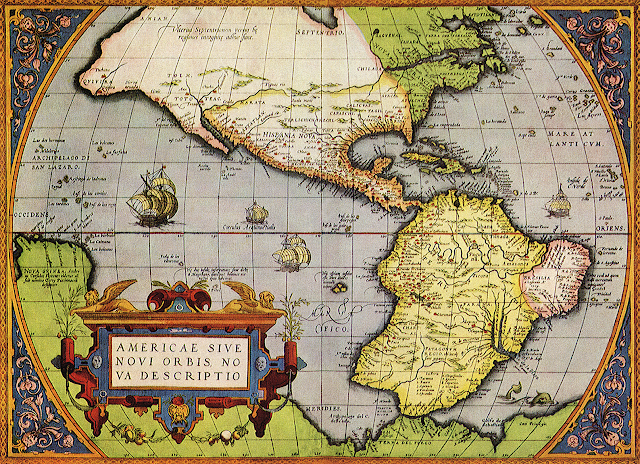 Western Hemisphere Map 17 Century