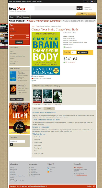 Product Detail of Books and Magazine Prestashop Themes