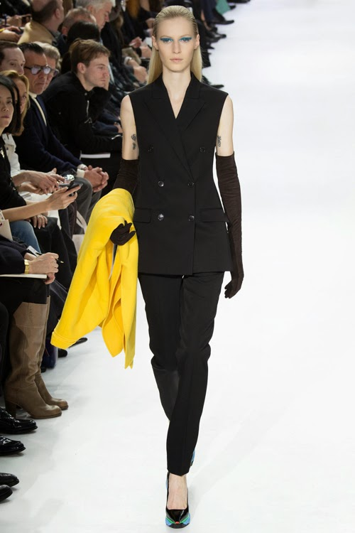 Christian Dior RTW AW14 LOOK 8 - С мужского плеча