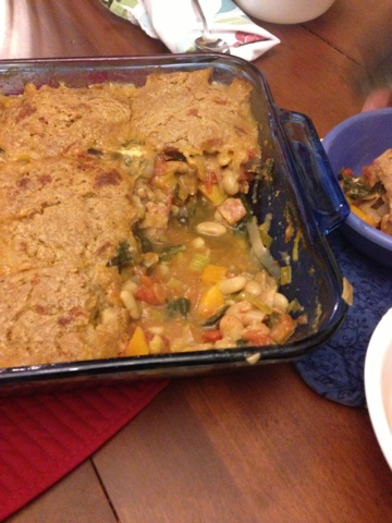 Minestrone And Parmesan Biscuit Potpie Recipe — Dishmaps