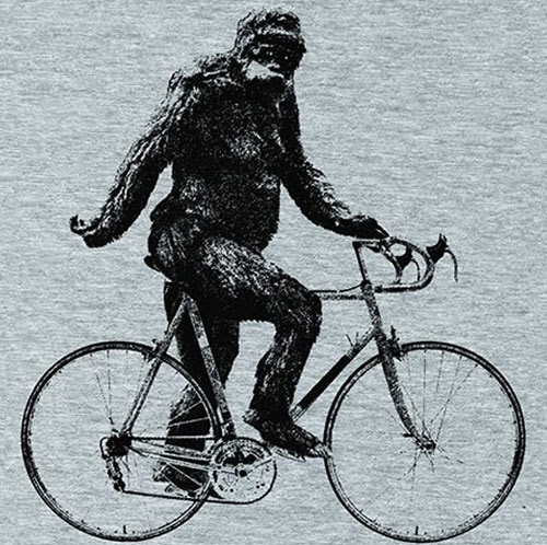 Sasquatch Cyclist t-shirt