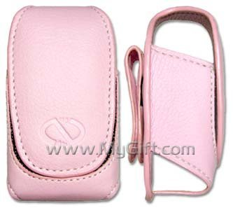 Samsung SPH-M510 Pink Pouch Leather Case with Belt Clip