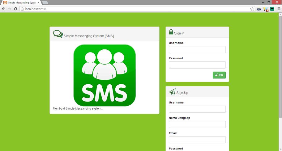 Membuat Simple Online Messanger Atau Chat Dengan Php, Mysql, Jquery, Bootsrtrap 3 Dan Font Awesome 4 [Part 1]