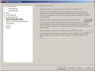Gestión de cuentas de usuario mediante LDAP en MDaemon
