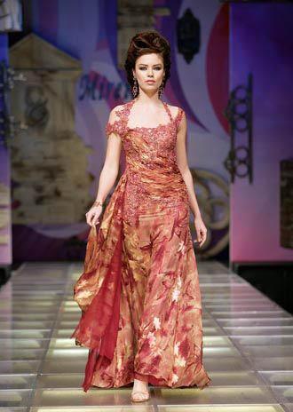 Modell Chiffon-Kleid - Party Kleider