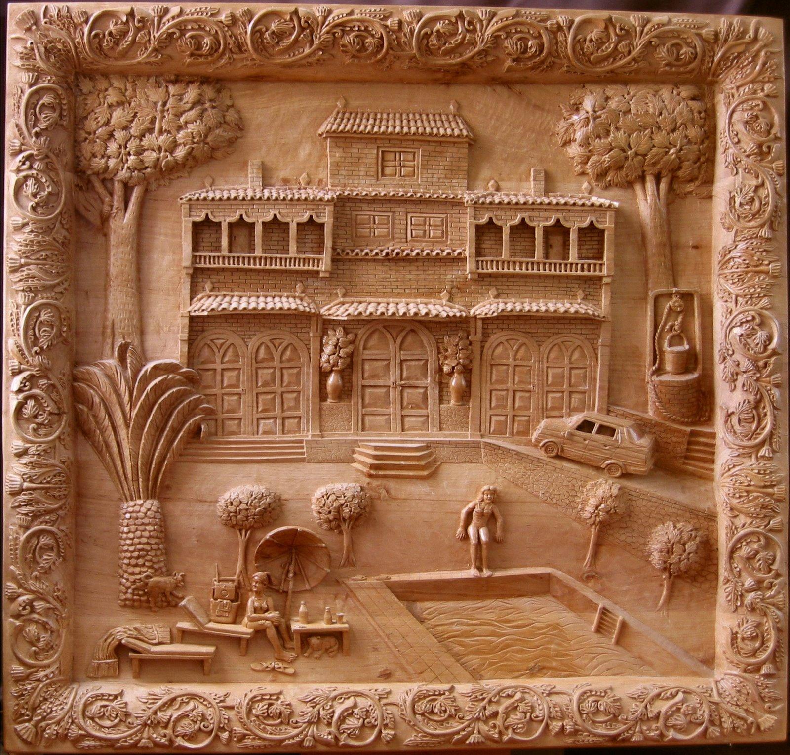 Nueva ornamentación para el marco de \'El establo\' : Talla en madera ...