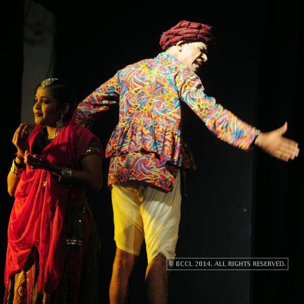 Jwala Karuvakkode during the play Duvidha, held at Fine Arts Hall, in Kochi.<br />
