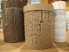 With the Weather Crackle Effect these cylindrical canisters look like faux bois.