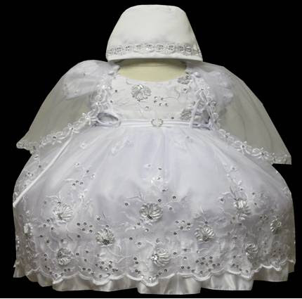 Angel baby girl Christening Baptism Dress Gowns outfit /XS/S/M/L/XL/0-3M/3-6M/6-12M/12-18M/18-24M/XSMALL/SMALL/MEDIUM/LARGE/XL/#609 at Sears.com