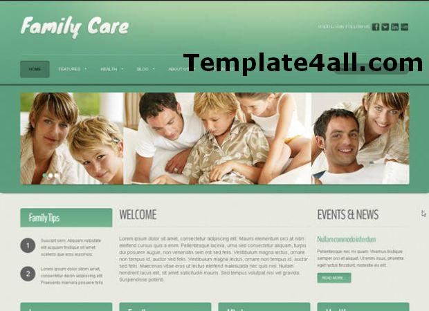 Family Care Green Joomla Theme