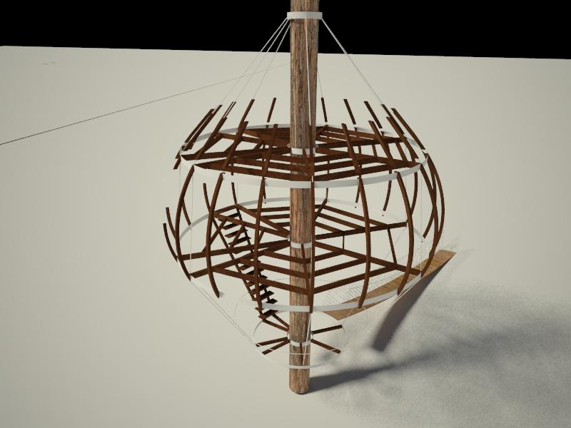 Casas en el árbol estructura