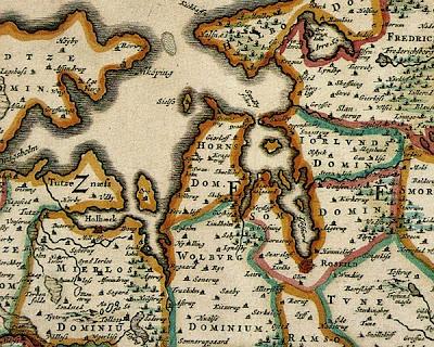 Gammelt kort over Fjordlandet