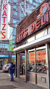 New York Katz's Deli, of the famous pastrami and pickles