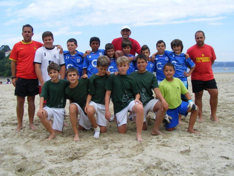 Torneo Futbol Playa Ares 2012. Final Alevín. Bankia - Xuventude