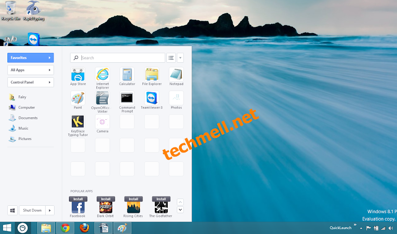 Search Apps Option in Pokki Start Screen in Windows 8.1