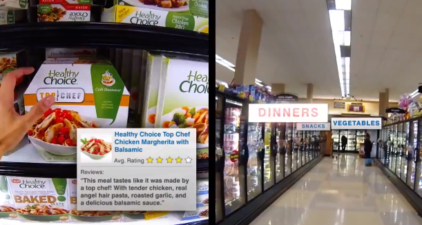 ConArga Foods Discover the Future of Frozen Foods with Marie Callender's Healthy Choice and Google Glass