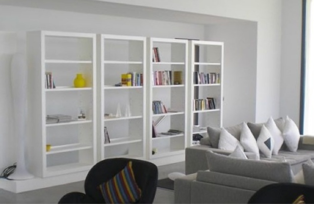 elegante freistehende regale elegant. Black Bedroom Furniture Sets. Home Design Ideas