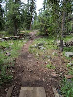 After the crappy trails on Saturday, I enjoyed the well-maintained trails south of Rainbow Lake