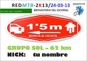 Dorsal para la Red MTB 2013