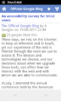 Google Reader Android 2.3.5