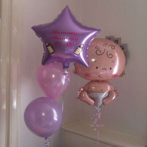 Decoracion baby shower con globos Mylar