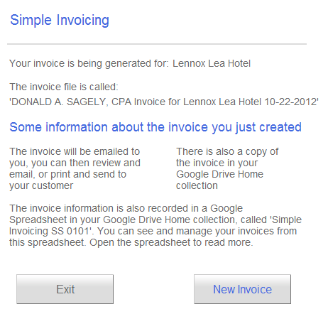 simple invoicing