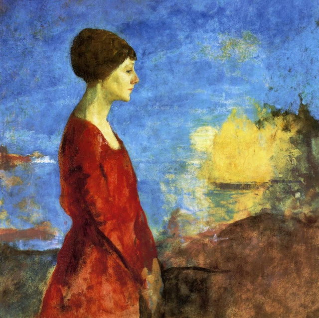 Charles Webster Hawthorne - Early Moonrise Portrait of Miss Wilson