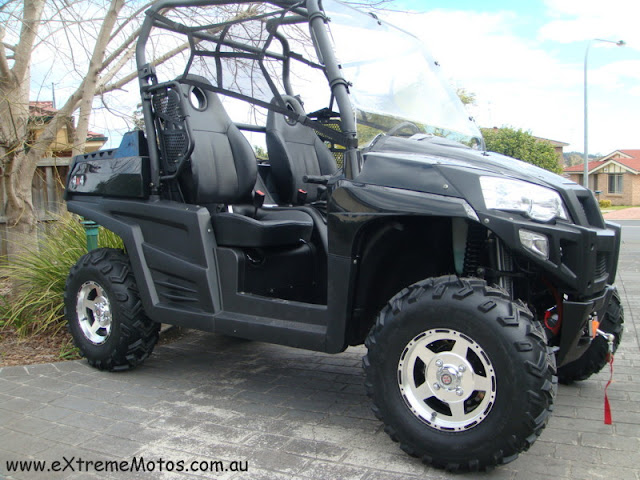 800cc Strike Hisun PQV-800 XUV Farm Sports Ute UTV Black