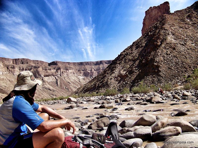 Kevin contemplates the canyon
