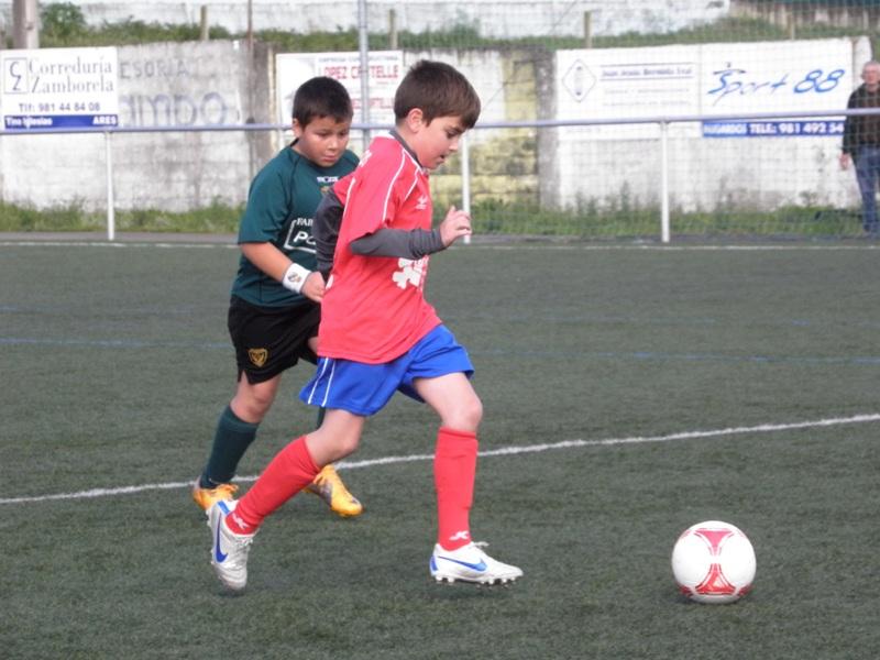 Instante do partido de benxamíns Numancia - Meirás, temporada 2012-2013