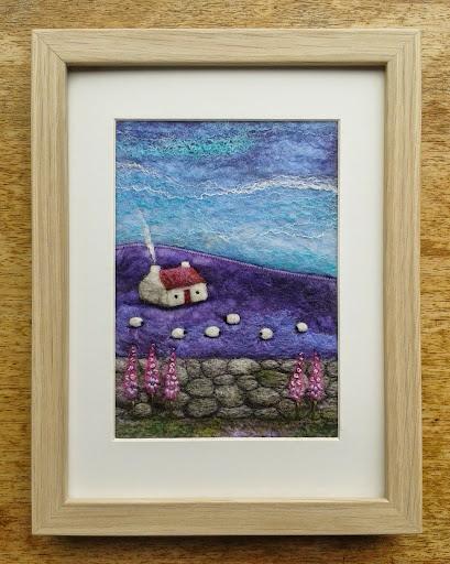 Purple haze cottage, by Scottish artist Aileen Clarke