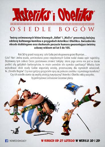 Tył ulotki filmu 'Asteriks i Obeliks: Osiedle Bogów'